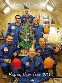 Los «astronautas» del experimento Mars500