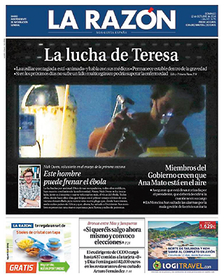 La Razón cover Teresa Romero