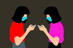 Illustration women masks