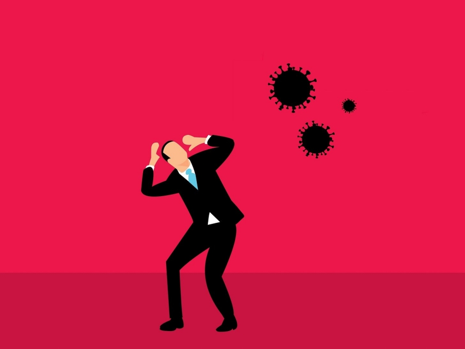 illustration threat coronavirus global pandemic