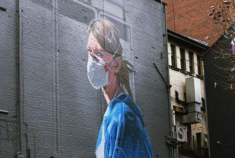 wall painting pandemic photo