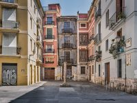 Ciutat Vella, the old town of Valencia, empty
